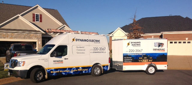 Dynamo Electric - Electricians - Generac Generators - Williamsburg VA