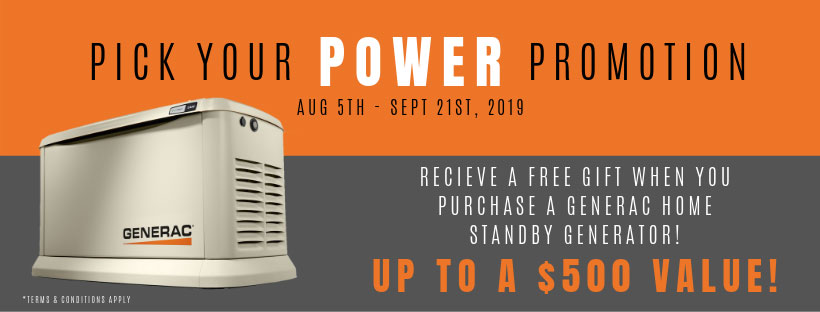 Generac Power Promotion - Offered by Dynamo Electric of Williamsburg Virginia