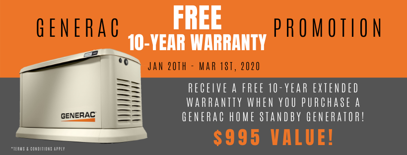 Generac Promotion - Dynamo Electric - Williamsburg Virginia