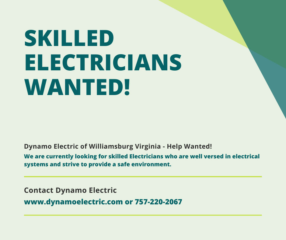 Help-wanted-electrician - Dynamo Electric